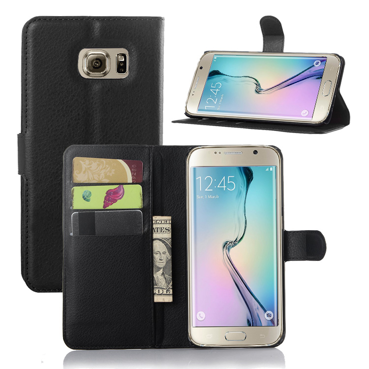 For <strong>Samsung</strong> Galaxy <strong>S6</strong> <strong>Edge</strong> Cell Phone <strong>Case</strong> Holder Other Mobile Phone Accessories PU Leather Silicone <strong>Case</strong> Phone <strong>Case</strong> Back Cover