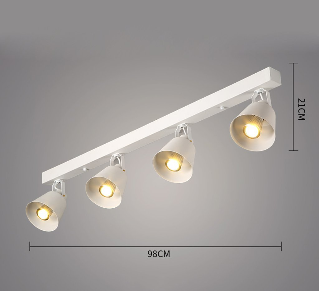 MGSD Spotlight, Retro Creative Personality Of The Industrial Clothing Store Restaurant Bar Guide Rail LED Lights Spotlights Maximum 40W Energy A + A+ ( Color : White )