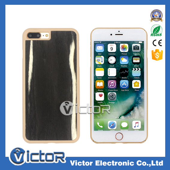 most popular products pp material wood veneer hybrid bumper phone case accessory for Iphone case