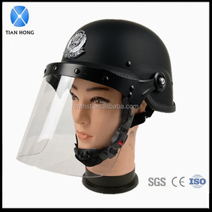 Police M88 Riot Helmet With Visor And Metal Grid