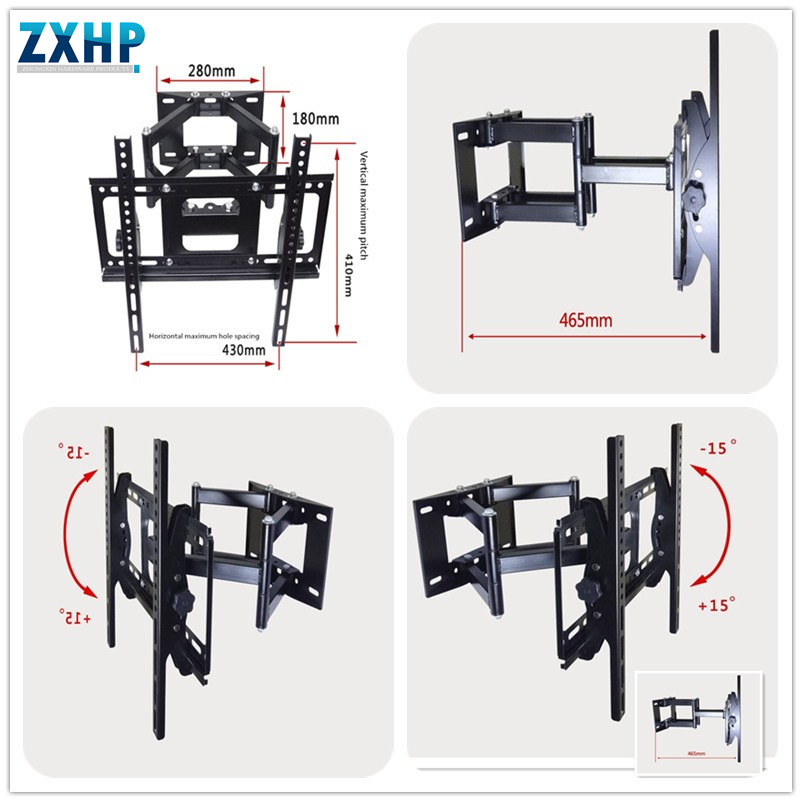 10-Inch to 24-Inch Universal Flat Panel Tilt and Turn Wall Mount for LCD, LED, Plasma, 3D TVs