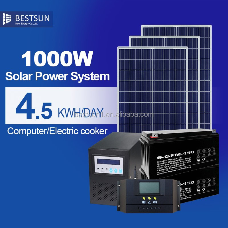 Bestsun Mono Or Poly Pv 1000 Watt Solar Panel Complete