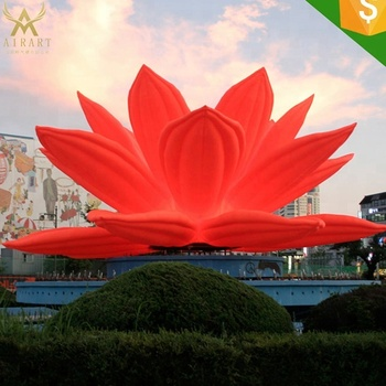 Large Floral Inflatable Red Lotus Flower Indian Wedding Decoration