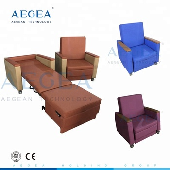 Culminating medical ward room folding single hospital sofa bed with four casters