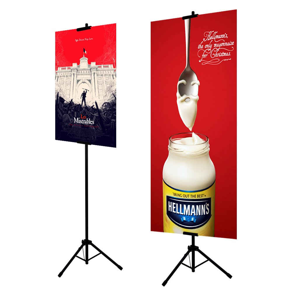 Stand only HUAZI Double-Sided Poster Stand,Floorstanding Sign Stand for Display,Height Adjustable up to 73 inches