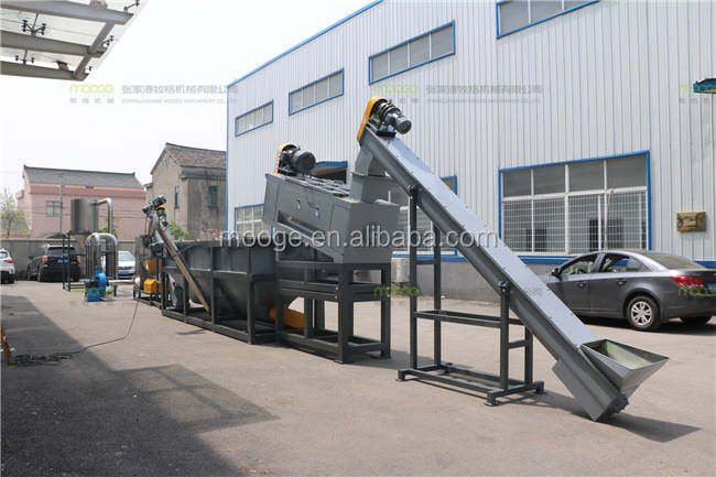 Used hdpe ldpe film plastic washing recycling machine / plant / line