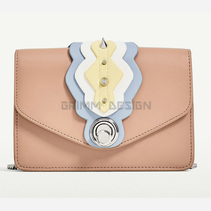 Newcom small hand pretty girl label clutch genuine leather women new model purses and ladies handbags A203321