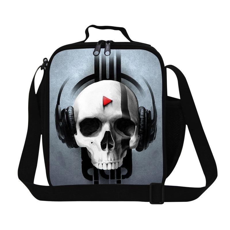 df4a6c7d9164 New Fashion 2015 Kids Designer Skull Lunch Bag for Food,Adult Thermal Bags  Skull Lunch Box,Mens Picnic Bag teen boys meal bag