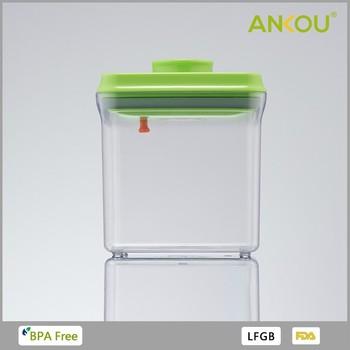 Home Essential Water Proof Plastic Rectangle Key Lock Food Storage