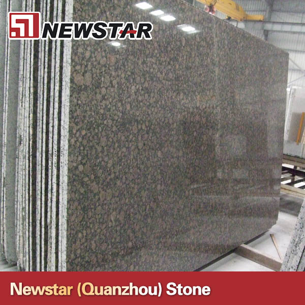 Tropical brown slab granite steel storage racks