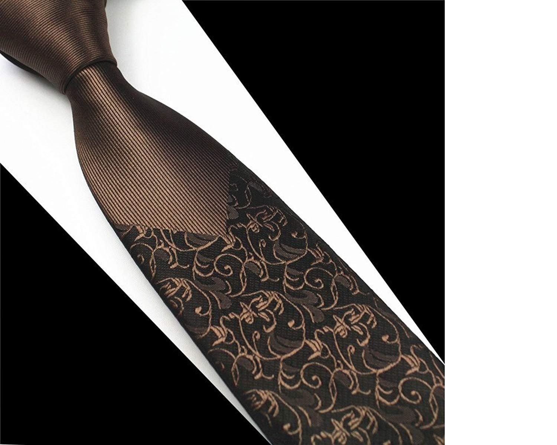 ecd8c7dd26b Get Quotations · Ties Luxury Man Floral GUSLESON New Skinny Mens Elegant  Classic Korean Style Tie