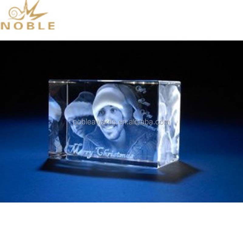 Photo Birthday Gift 3D Laser Crystal Cube as Home Decoration