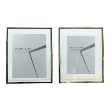 2019 Floating Photo Frame, Metal Photo Frame, Gold / Silver Picture Frame