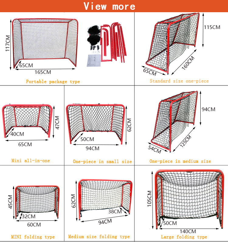 High quality indoor outdoor Steel Tube mini holistic indivisible Ice Hockey Goal