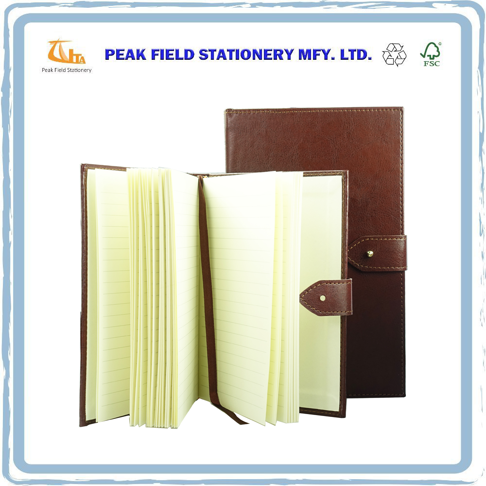 USA Low MOQ Leather joy top dotted A7 saddle stitched stationery yellow paper organizer journal