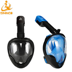 Watersport Scuba Natural Easy breath Full face swimming nose diving snorkel mask