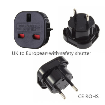 Converter Adaptor Plug Ce Lvd Female To Male Electrical Adapter Safety Shutter Euro