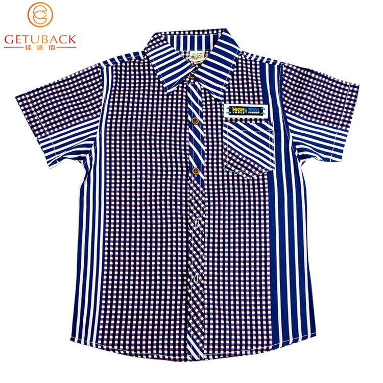 386dfd47 Get Quotations · 2015 New Design Boys Summer Style Plaid Cotton Shirts Kids  Brand Fashion Clothes Boys Short Sleeves