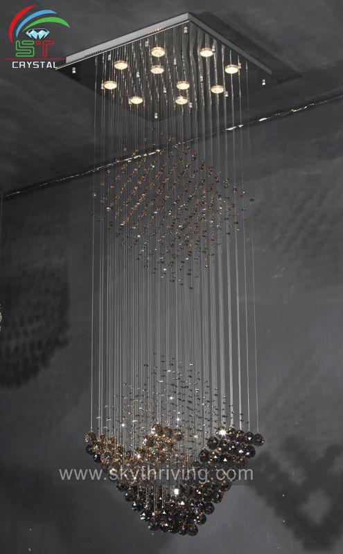 Square Crystal Chandelier Home Design Modern Led Long