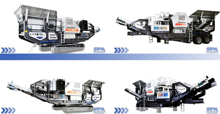 Profesional manufacturer small portable stone crusher machine, diesel crawler mobile stone crusher price