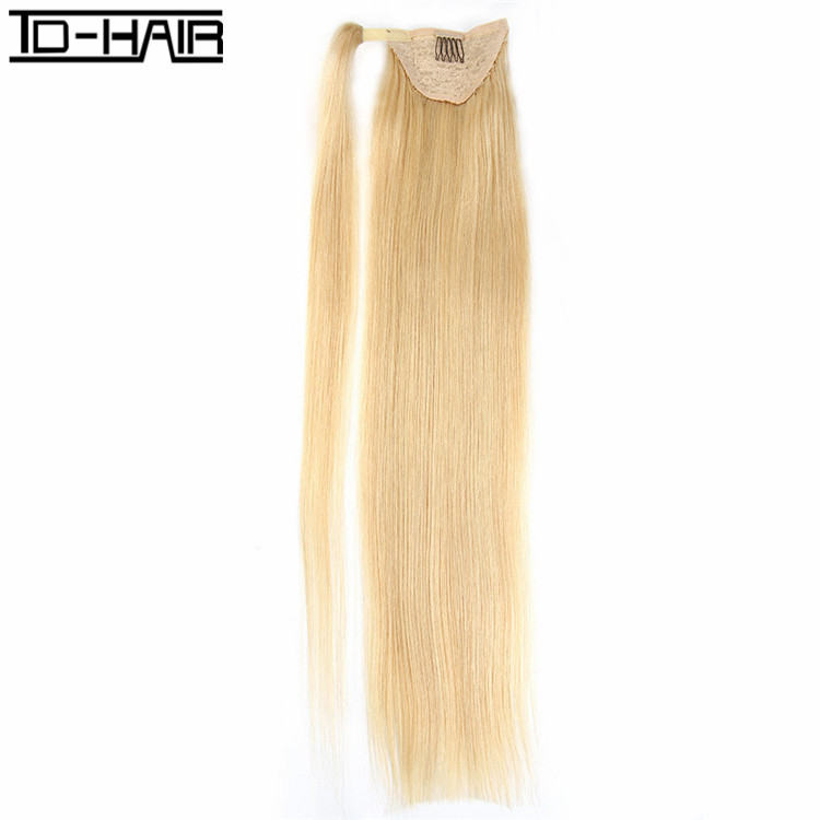 Best selling Brazilian remy human hair ponytail extension real hair white women human hair drawstring ponytail