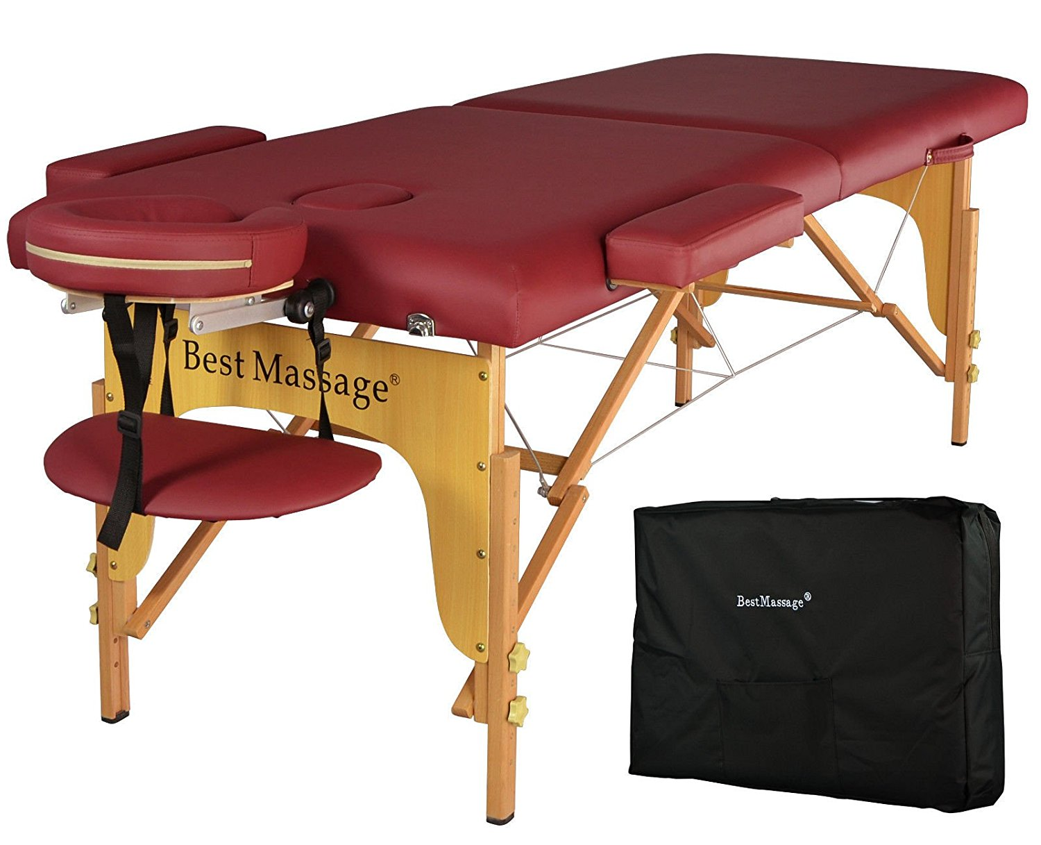 Get Quotations Eight24hours Burgundy Pu Portable Mage Table W Free Carry Case