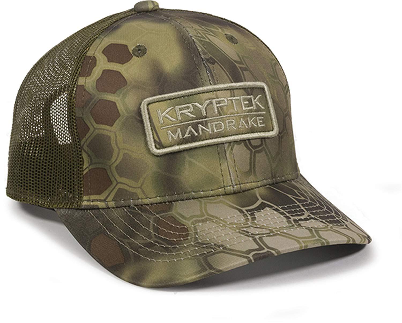 91d224d3176 Get Quotations · Kryptek Mandrake Military Green New Snakeskin Camo Warrior  Patch Mesh Cap Hat