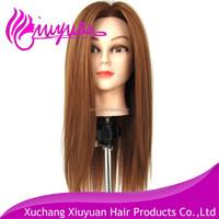 Mannequin head synthetic hair long straight hair