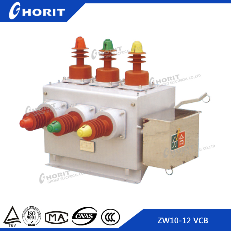 Zhejiang Ghorit 12kv Outdoor High Voltage Vacuum Circuit Breaker ZW10-12