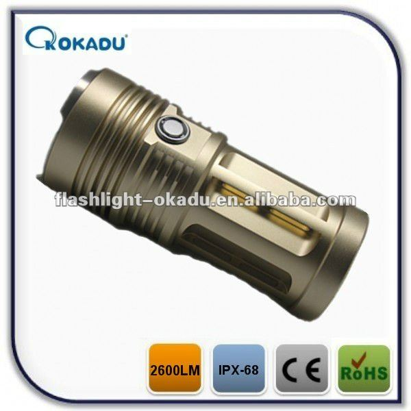 High power ipx-8 waterproof projection flashlight