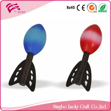 Lucky Craft PU foam Dia 5X17cm stress ball custom print reliever toys missile shape