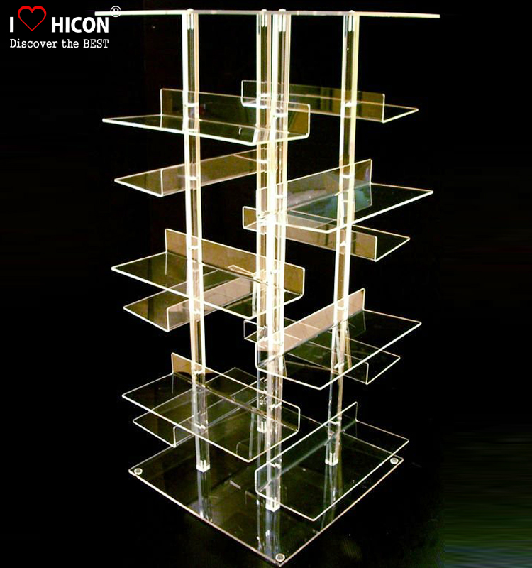 Merchandising Acrylic Display For Shoes, Retail Store Desl Top Acrylic Shoe Shop Display Shelves