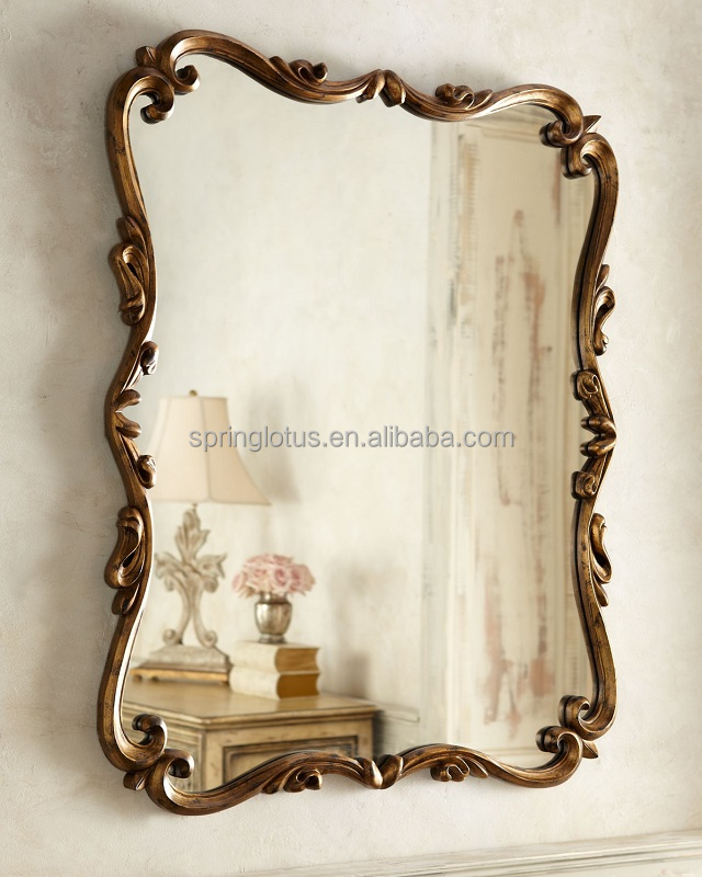 Antique Wall Mirrors antique gold leaf frame wall mirror, antique gold leaf frame wall