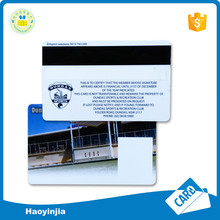 Custom printing machines plastic business card with magnetic stripe
