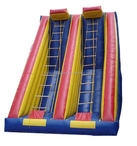 Inflatable climbing rope slide and Inflatable rope ladder climb game