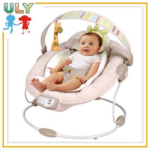 Fashion electric baby chair musical baby soft chair vibrating baby push chair