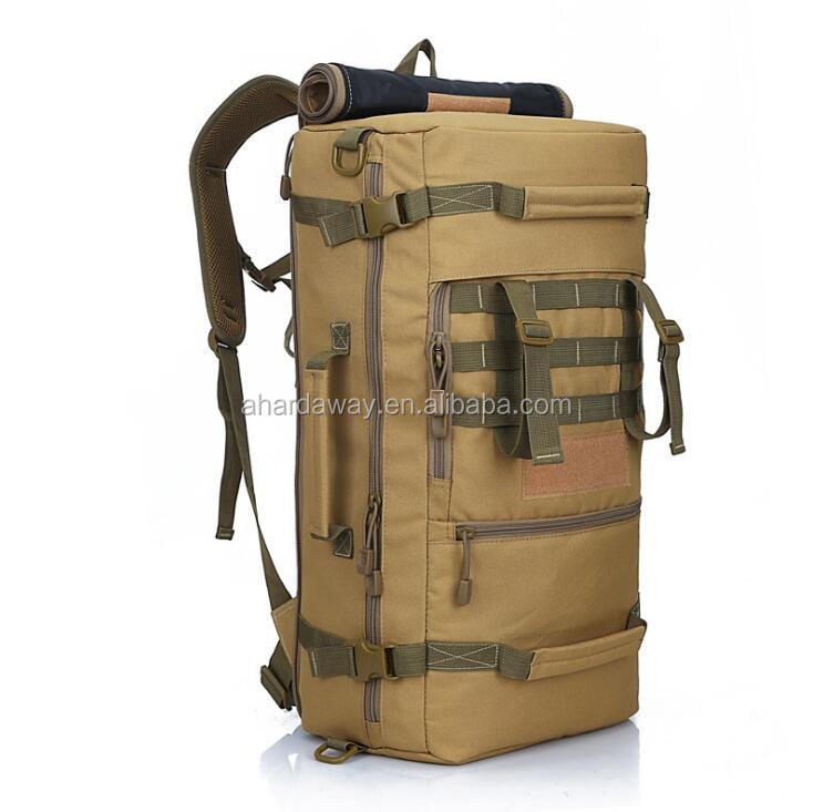 Multi-functional military tactical backpack with hidden straps,shoulder travel duffel bag
