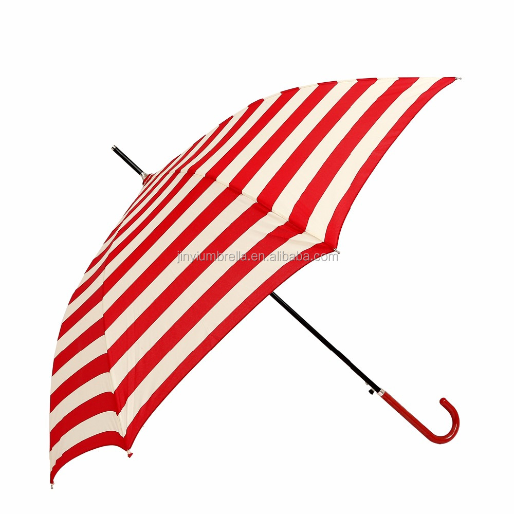 JINYI promotionallong umbrella frocks solar print red stripe straight Umbrella