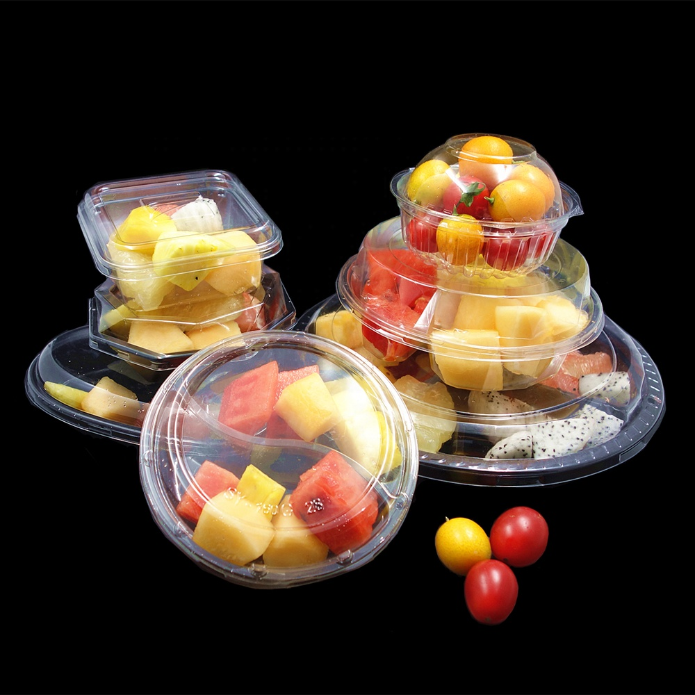 Custom Size Wegwerp Blister Voedsel Fruit Salade Container