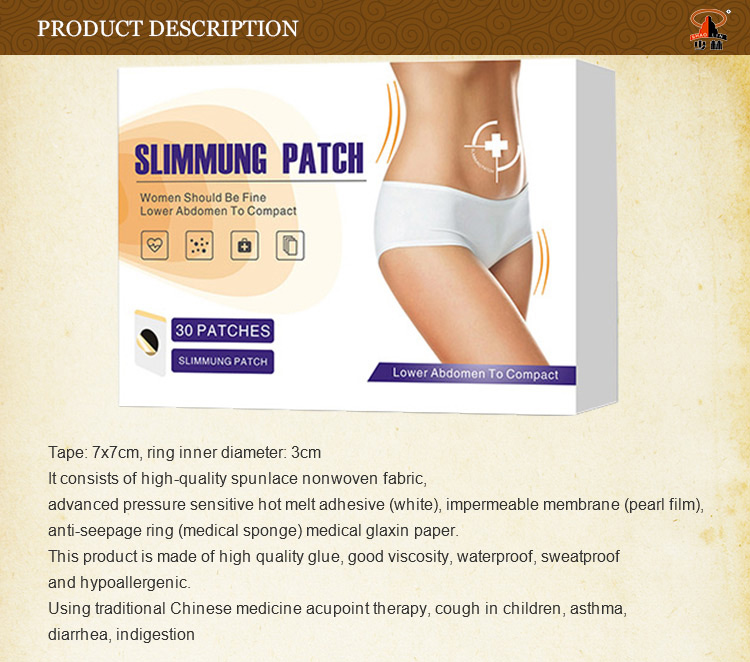Shaolin herbal beauty health lose weight belly patch leg slimming acupoint detox patch