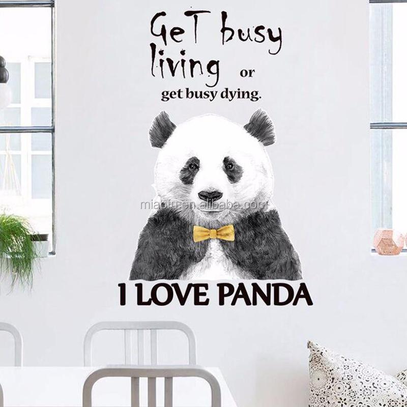 Kids Bedroom Cute Cartoon Panda Wall Stickers Buy Panda Wall Stickerscute Wall Stickerskids Wall Stickers Product On Alibabacom