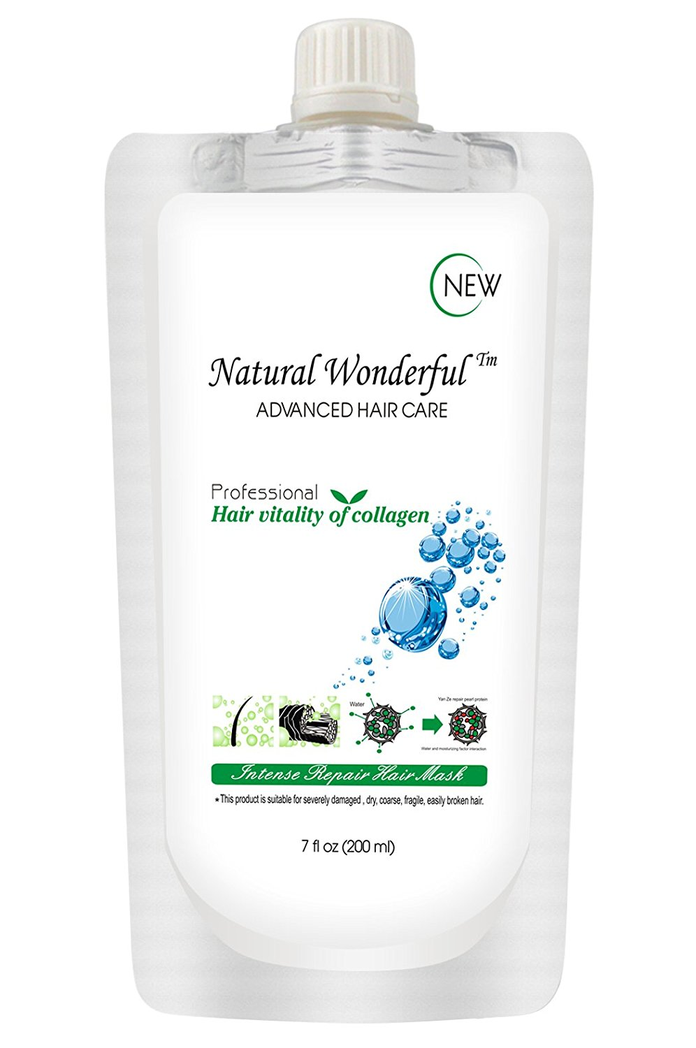 Hair Repair Mask 200ml, Deep Conditioner for Damaged & Dry Hair, Nourishes Scalp, Deep Conditioning Treatment for Split Ends & Frizz