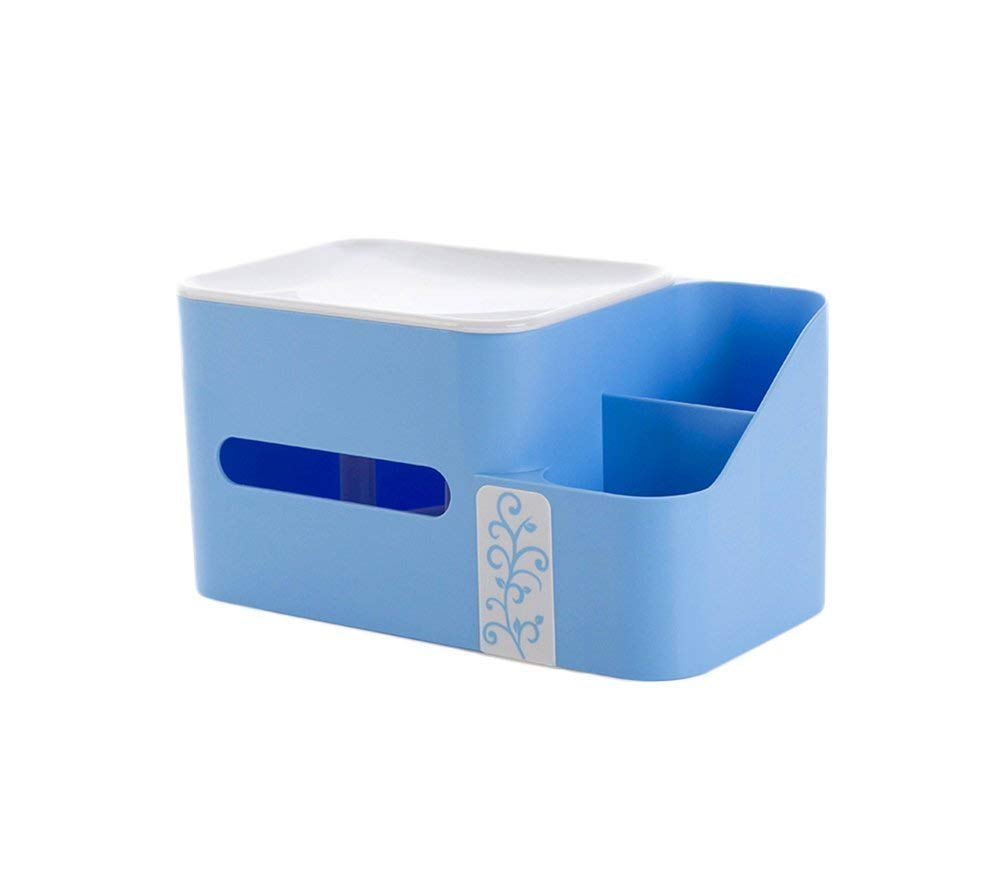 DACHUI Tissue box storage box of plastic paperbox simple of the creativity of the book box length 24.5 x 13 x 12.7 cm in width to the amount of creativity, easy to clean (color blue)