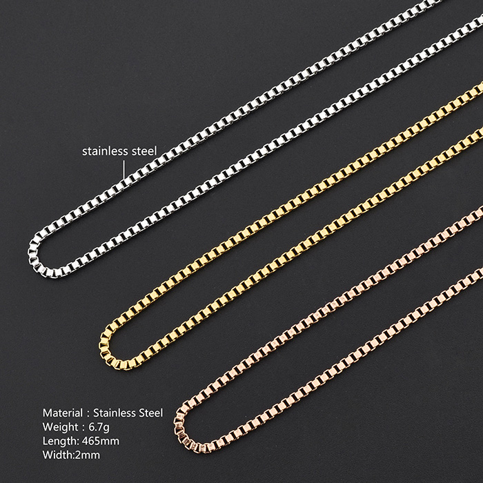 Custom Jewelry Stainless Steel New Gold Chain Design Men