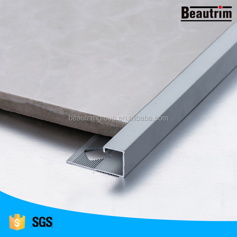 beautrim aluminium triangle black tile edging corner profile