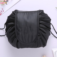Portable Cute Multifunction Beauty Travel Cosmetic Bag Makeup Case Pouch Barrel-shaped Nylon organizer bag