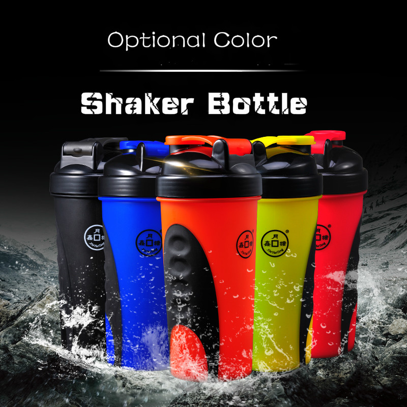 Good Promotion Sport Shaker With Mixing Ball,600ml Plastic Shaker Bottle Protein