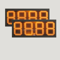 led display for time date temperature/ outdoor 4 digits gas price led signs/ electronic price display for supermarkets