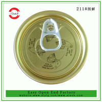211# English introduction tin can easy open pull ring caps