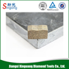 Stone cutting tool of diamond segments for granite without chipping